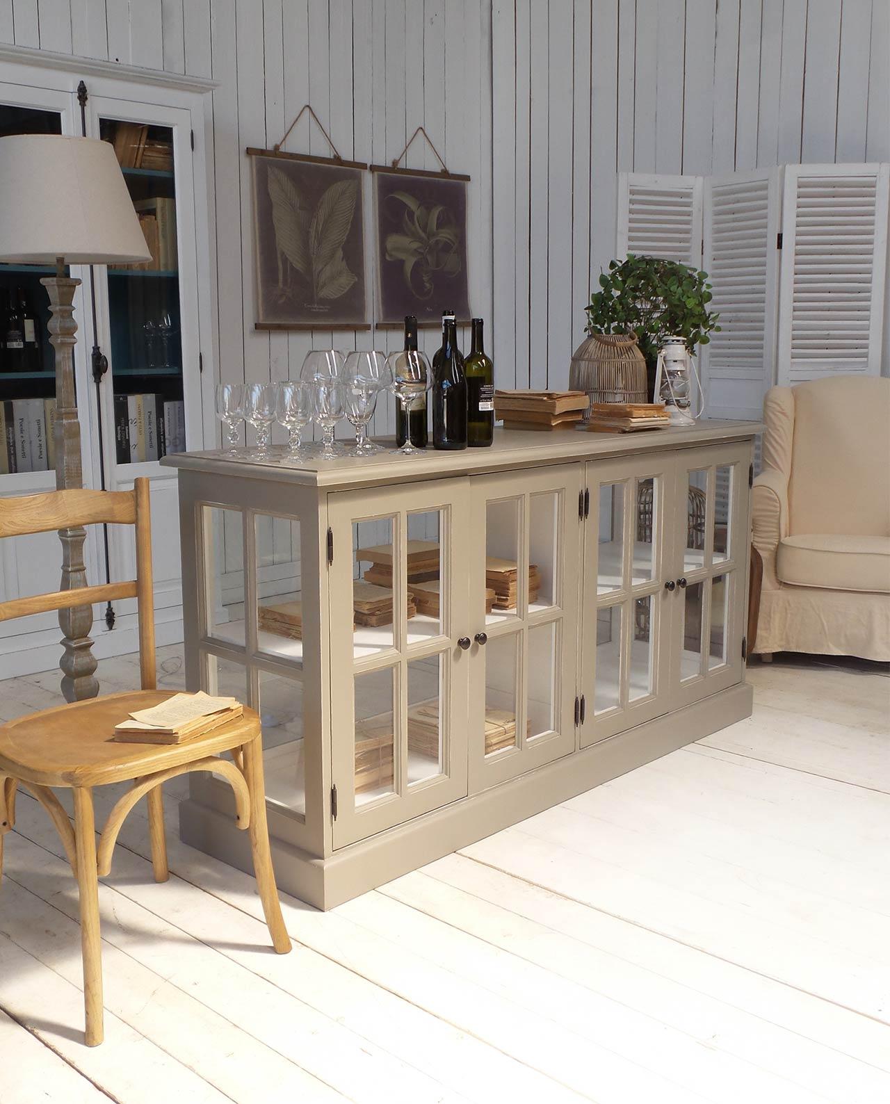 Mobile espositore vetrina in legno di massello - Mobilia Store Home ...