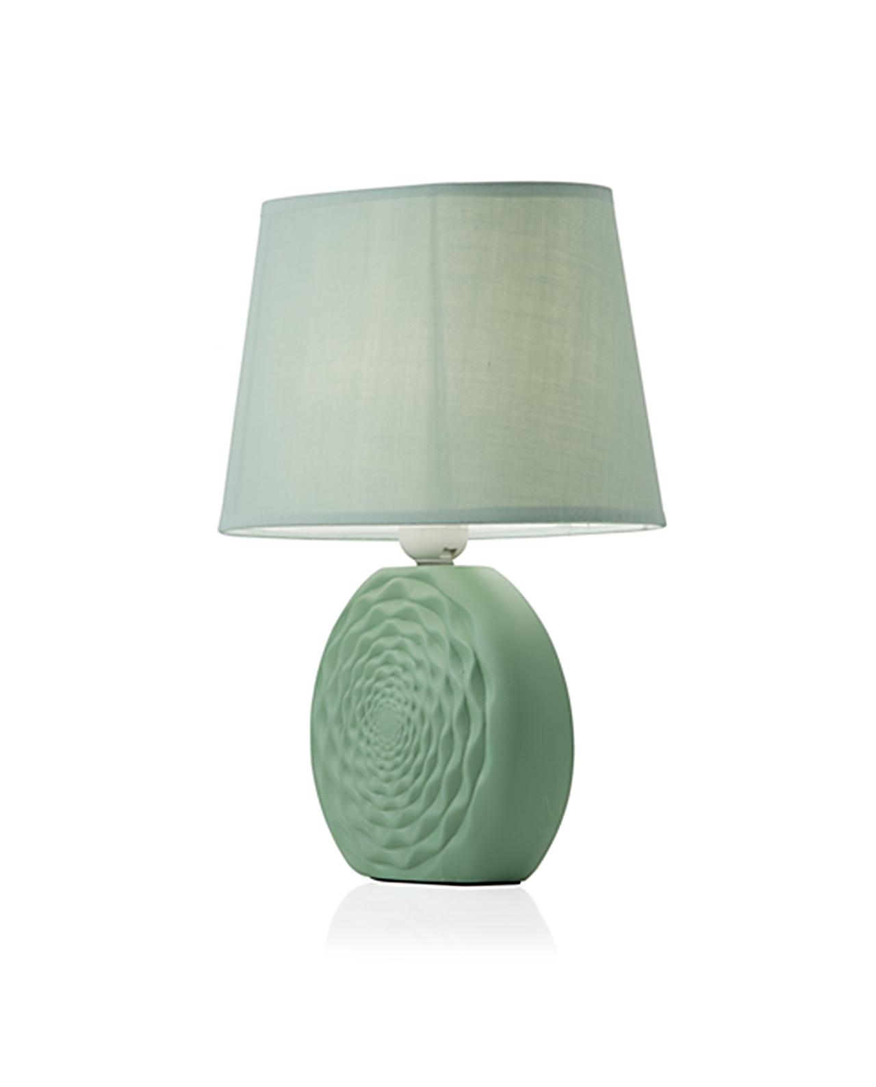 Lampada in ceramica da tavolo azteca brandani vari colori mobilia store home favours for Lampada da tavolo verde