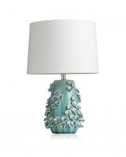 lampada in ceramica da tavolo tiffany linea calla brandani