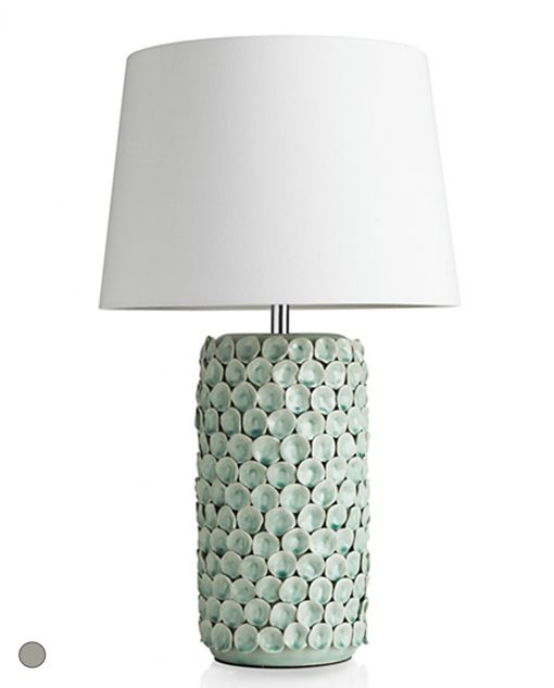 lampada in ceramica decorata linea petali brandani