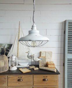 lampadario sospensione metallo bianco industrial