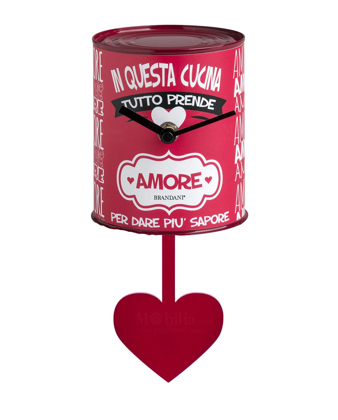 Orologio con pendolo barattolo brandani mobilia store for Mobilia frasi
