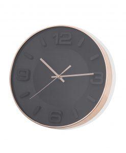 orologio da parete nero rose gold brandani