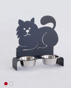 portaciotole per gatti in metallo arti e mestiri