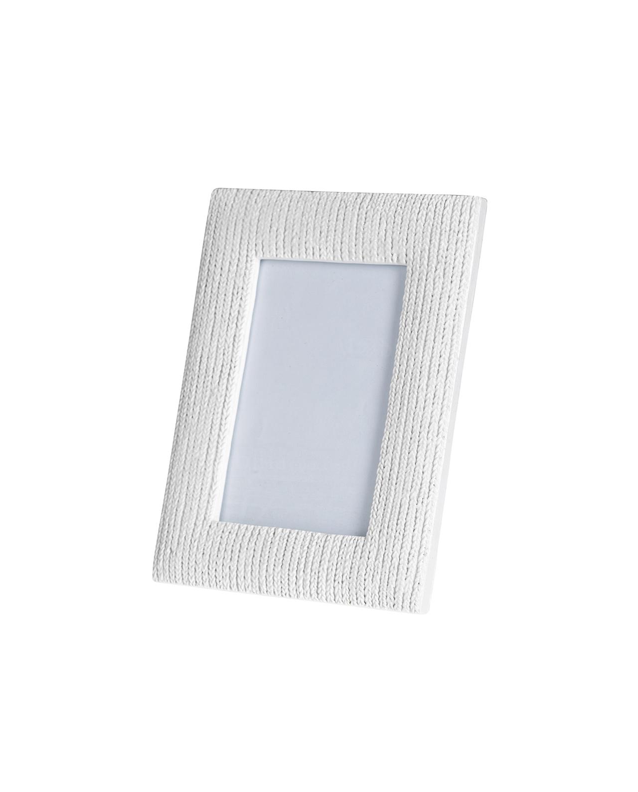 Cornice portafoto da tavolo bianco intreccio brandani - Portafoto da tavolo 20x30 ...