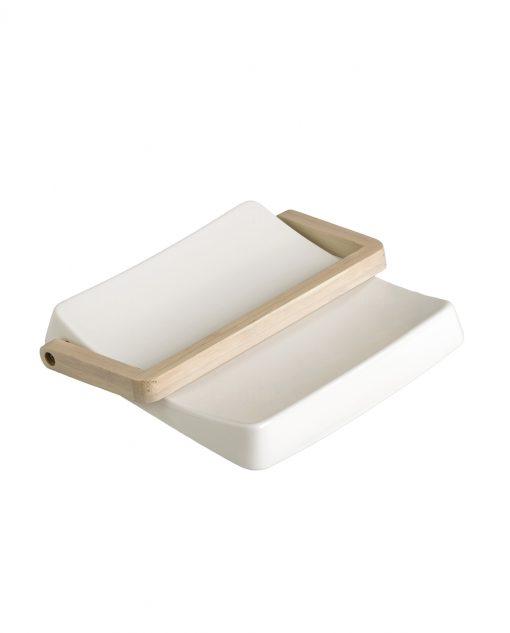 portatovaglioli quadrato in porcellana e bamboo brandani