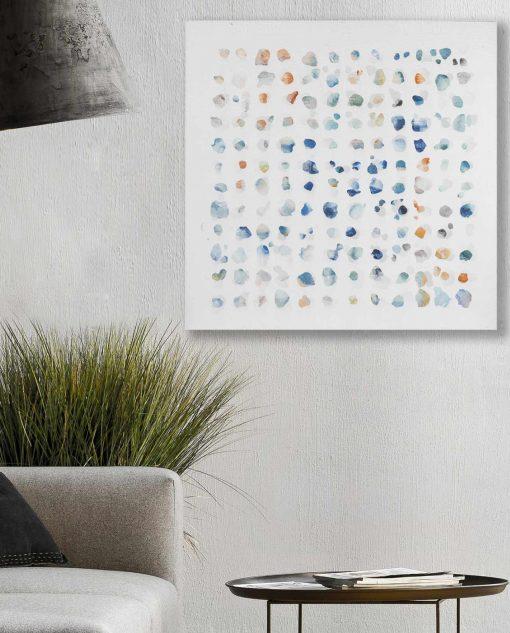 quadro moderno con pois colorati brandani