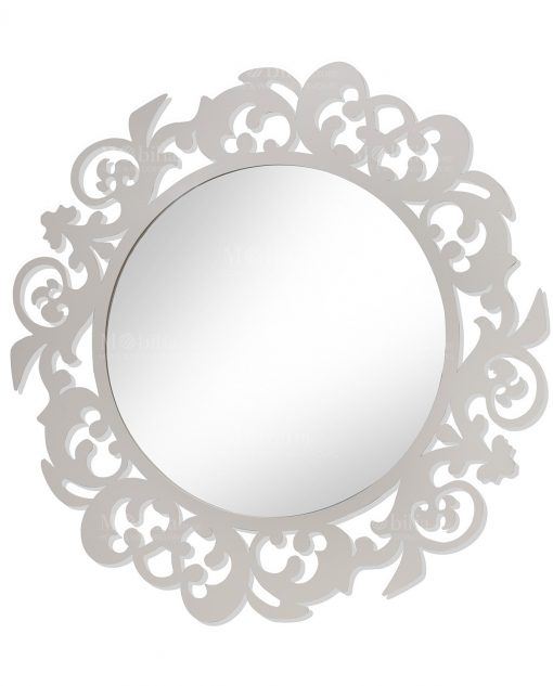 specchio da parete rotondo i preziosi in metallo brandani