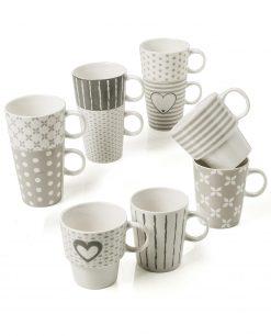tazze da colazione in ceramica decorata brandani