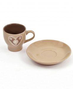tazzina in ceramica decorata con cuore
