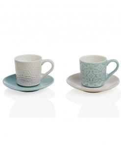 tazzine da caffè in ceramica decorata alice brandani
