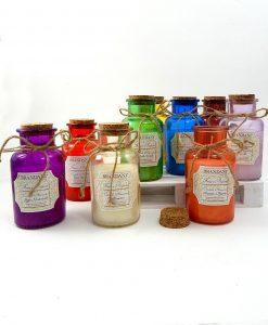 vasetto in vetro con candela aromatica brandani