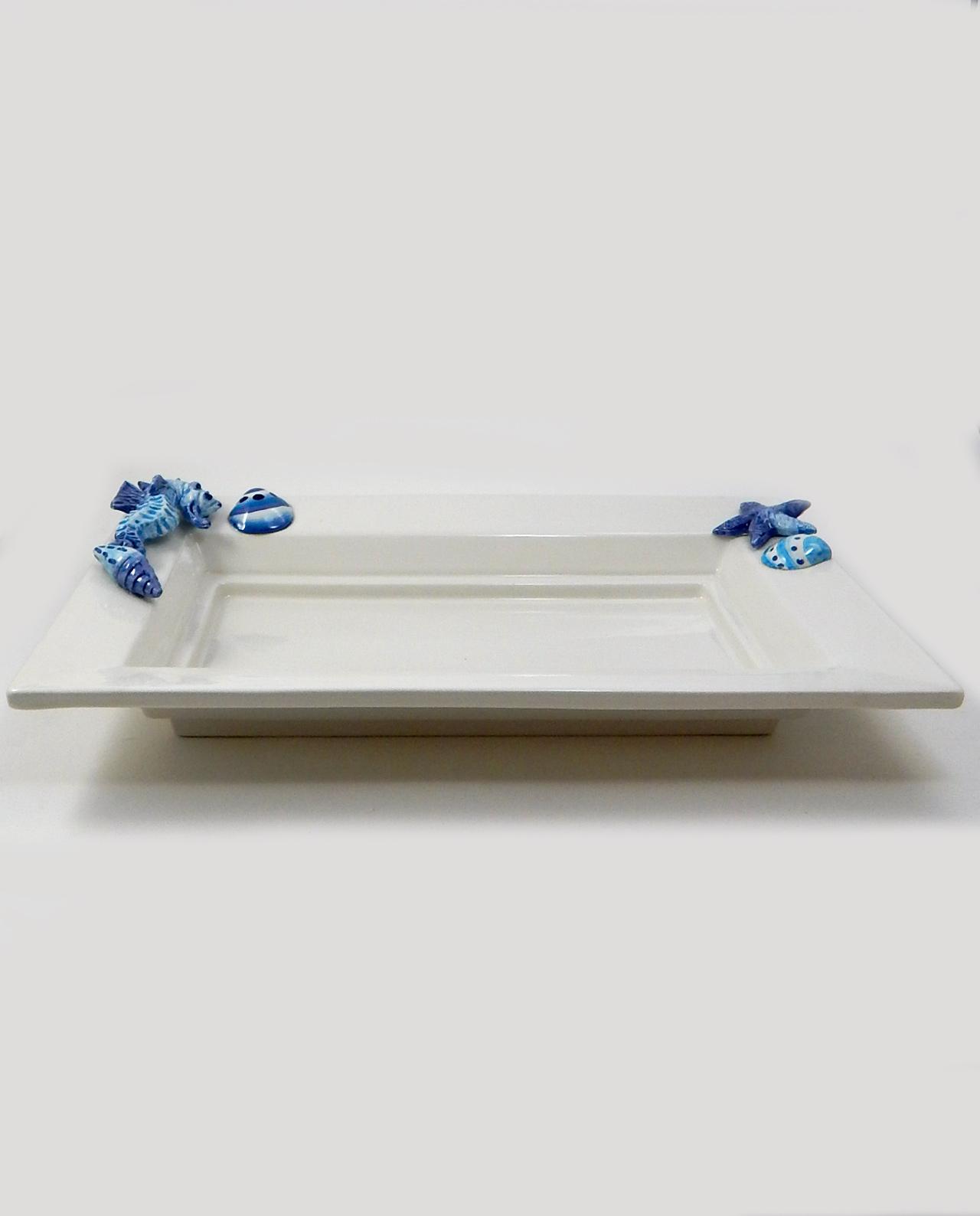 Vassoio rettangolare ceramica tema mare mobilia store for Mobilia recensioni