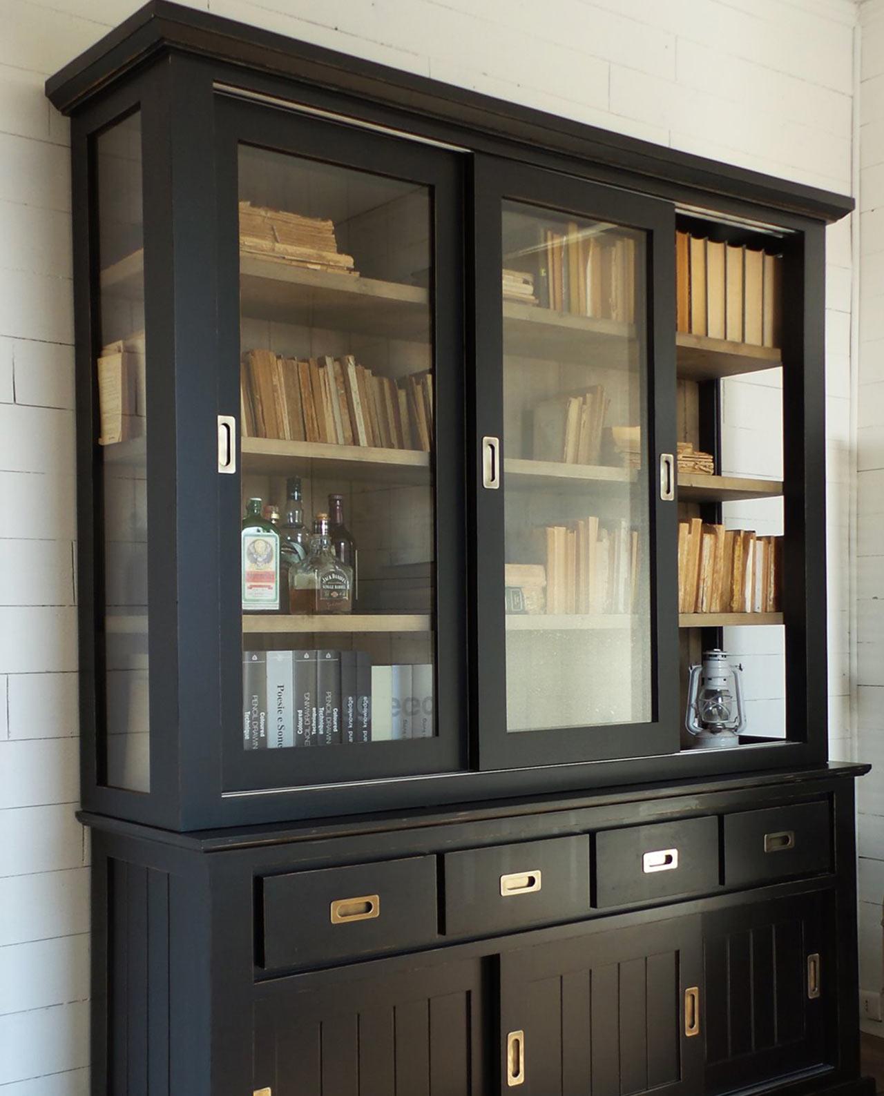 Mobile vetrina legno abete di massello - Mobilia Store Home & Favours
