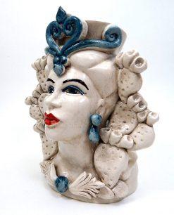 Testa di moro a vaso in Ceramica di Caltagirone