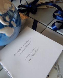 bomboniera diffusore porcella globo blu