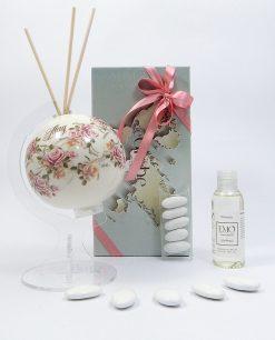 bomboniere profumatore globo porcellana tema primavera