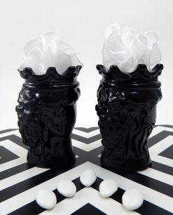 bomboniere teste di moro nere in ceramica di caltagirone