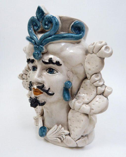 ceramica artigianale di caltagirone testa di moro grande