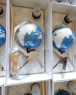 diffusore ambiente mappamondo blu porcellana