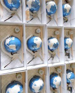 diffusore mappamondo blu porcellana emò