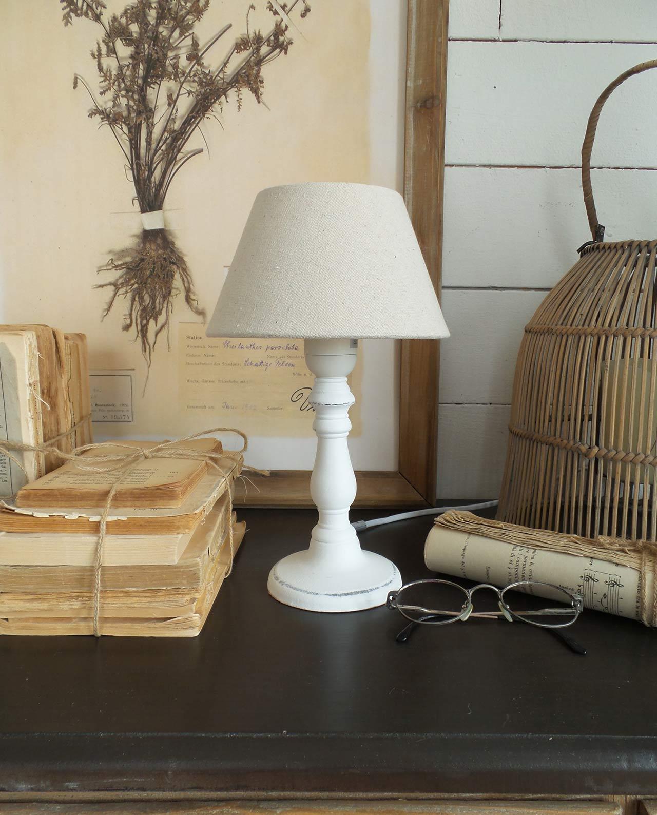 Sedie pieghevoli bianche ferro shabby - Lampade da tavolo in legno ...