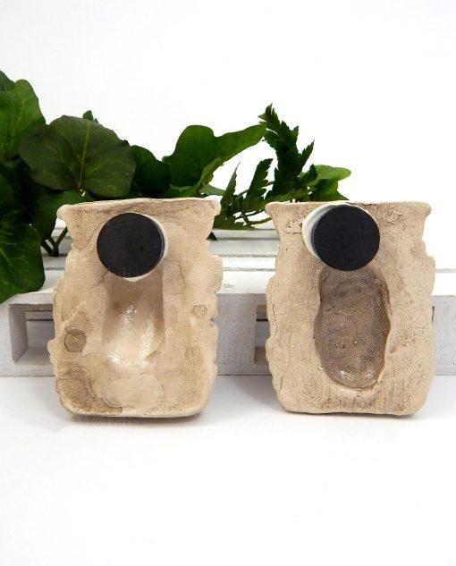 magnete testa di moro in ceramica di caltagirone beige