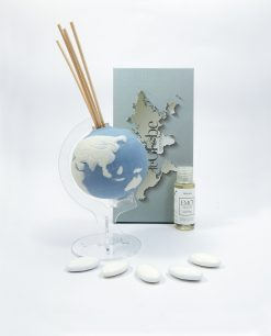 mappamondo profumatore blu porcellana emò