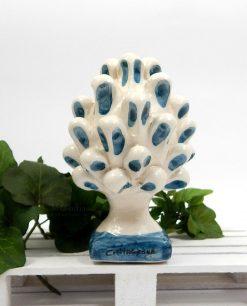 pigna in ceramica dipinta a mano blu di caltagirone piccola 1