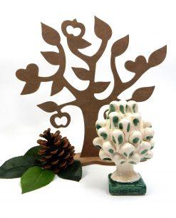 pigna verde in ceramica di caltagirone arredo per la casa 1