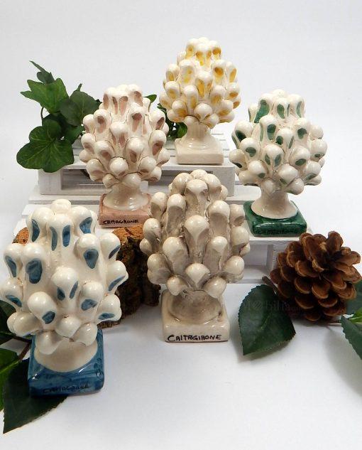 pigne in ceramica di caltagirone dipinte a mano grandi 1