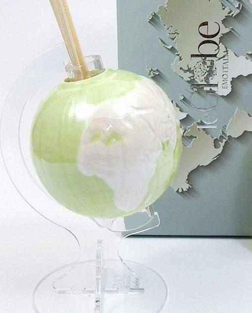 profumatore ceramica globo verde emò