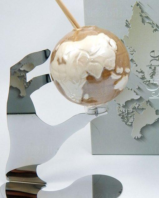profumatore globo fango porcellana tema viaggio