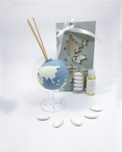 profumatore globo piccolo porcellana blu emò