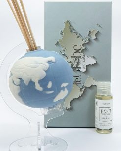 profumatore globo porcellana blu
