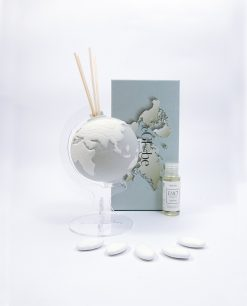 profumatore globo porcellana grigio emò bisquit