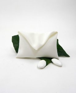 sacchettino bustina in cotone bianco