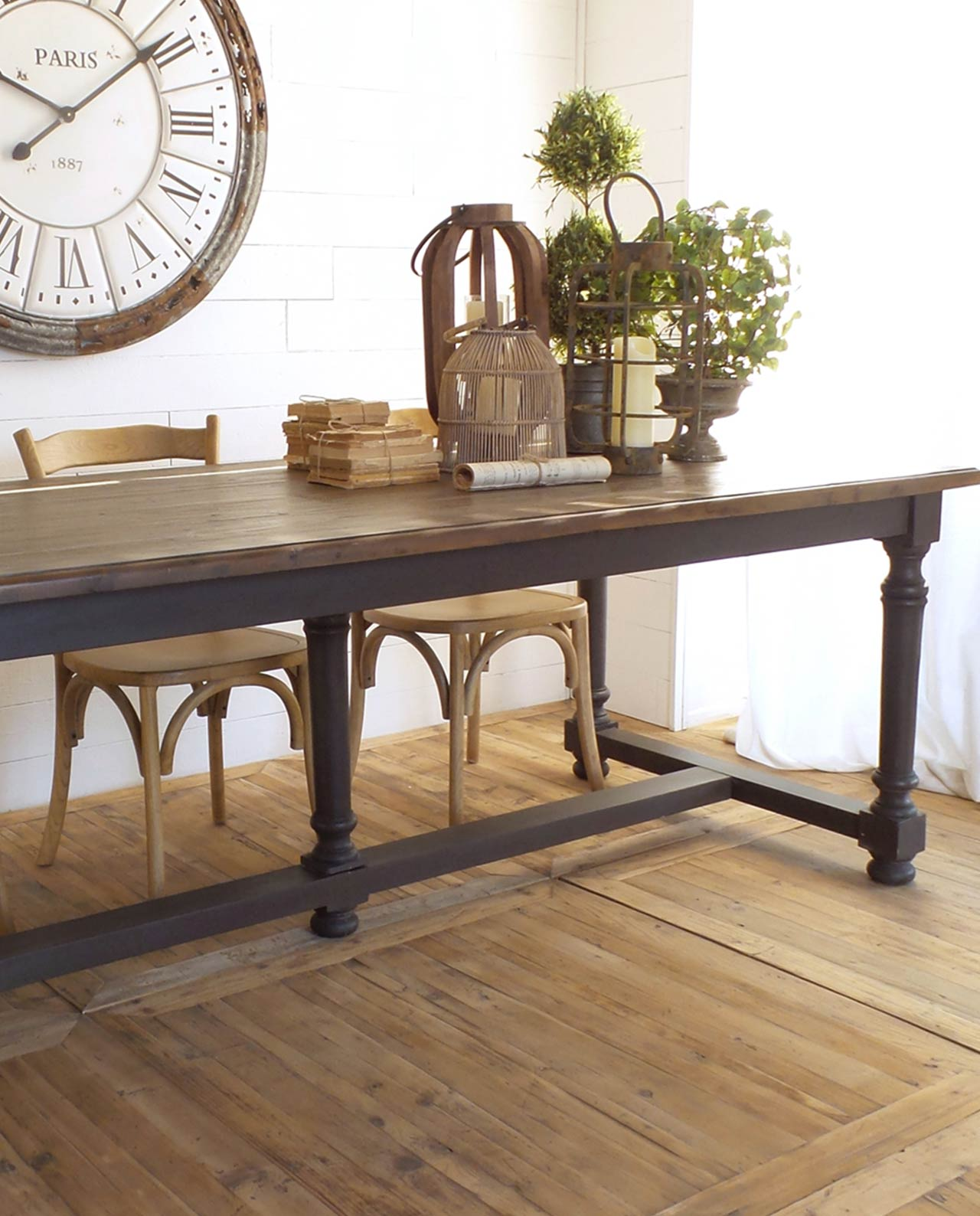 tavolo da sala da pranzo in legno di pino mobilia store