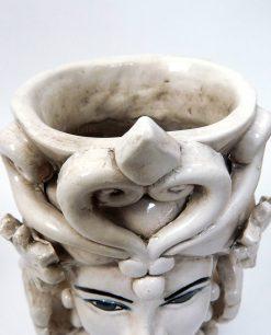 testa di moro grande design in ceramica di caltagirone antichizzata