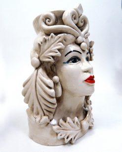 testa di moro grande in ceramica artigianale di caltagirone