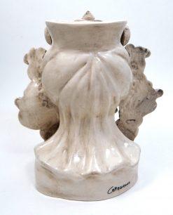 testa di moro grande in ceramica artigianale di caltagirone antichizzata 1