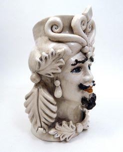 testa di moro grande in ceramica di caltagirone