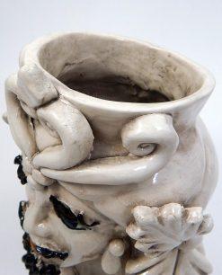 testa di moro in ceramica antichizzata di caltagirone