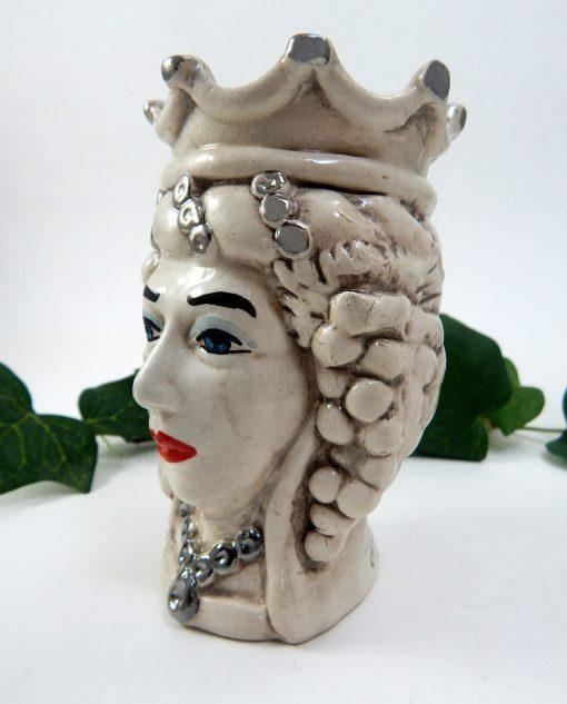 testa di moro in ceramica di caltagirone dipinta a mano