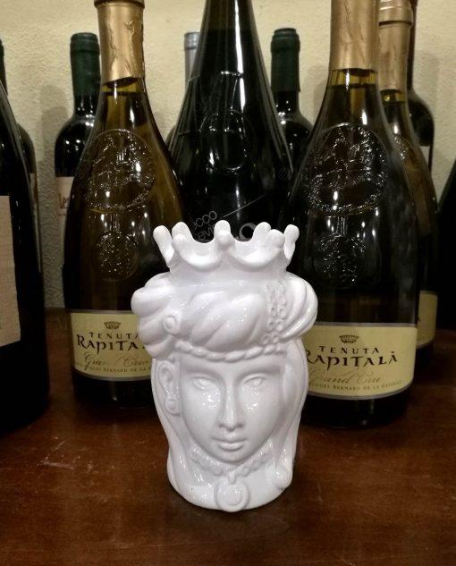 testa di moro regina in ceramica dipinta a mano di caltagirone