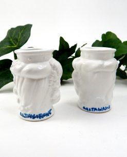 teste di moro artigianali in ceramica bianca di caltagirone 1