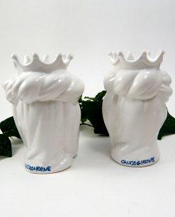 teste di moro bianche con corona ceramica di caltagirone 1