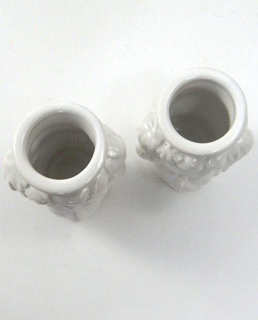 teste di moro in ceramica di caltagirone bianca piccole