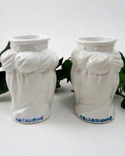 teste di moro re e regina in ceramica di caltagirone bianca 1