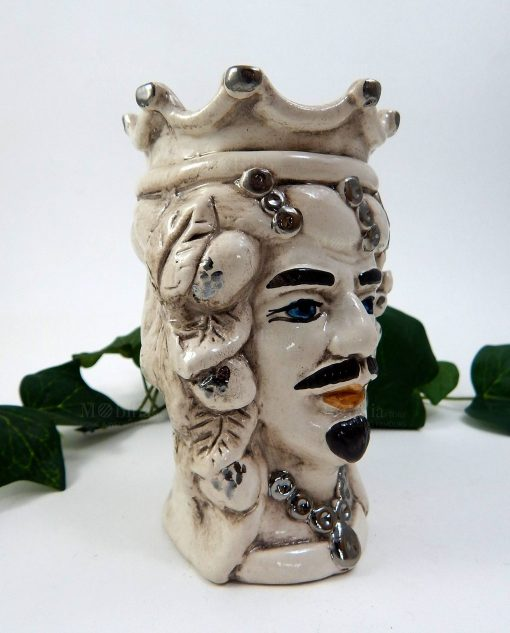 vasi testa di moro caltagirone decorata a mano